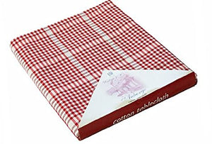 Auberge Tablecloth - Red Check (172cm Round)