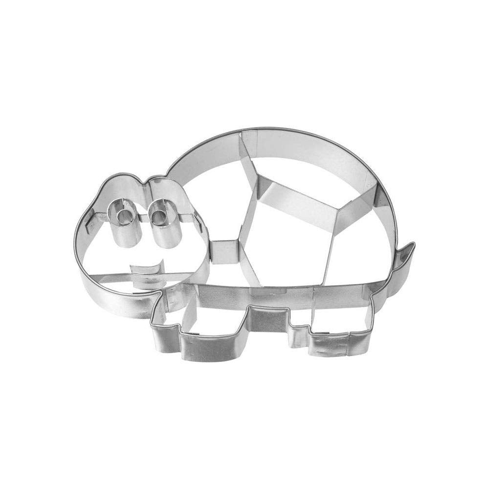 Cookie Cutter Turtle 10 cm Stainless Steel internal detailing