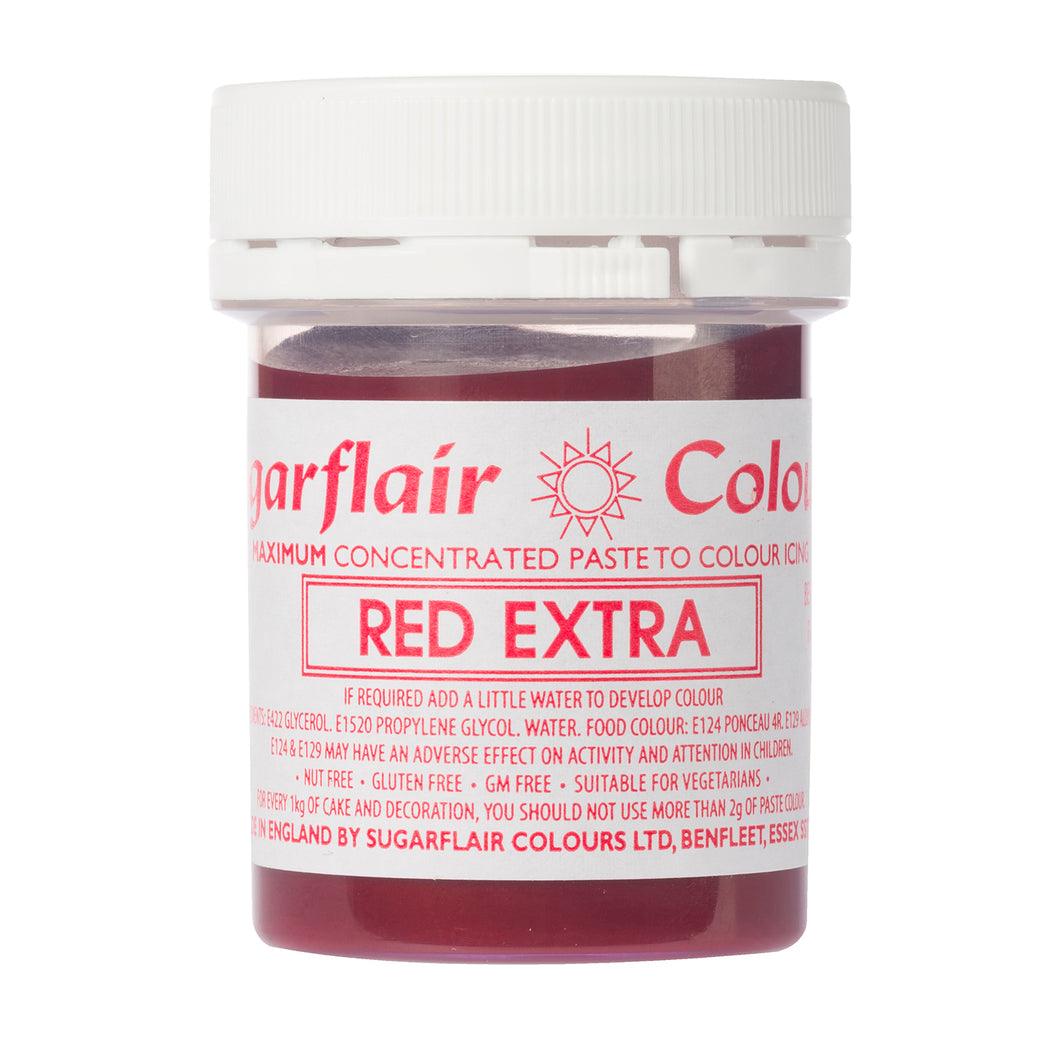 Sugarflair Paste Colour - Red Extra