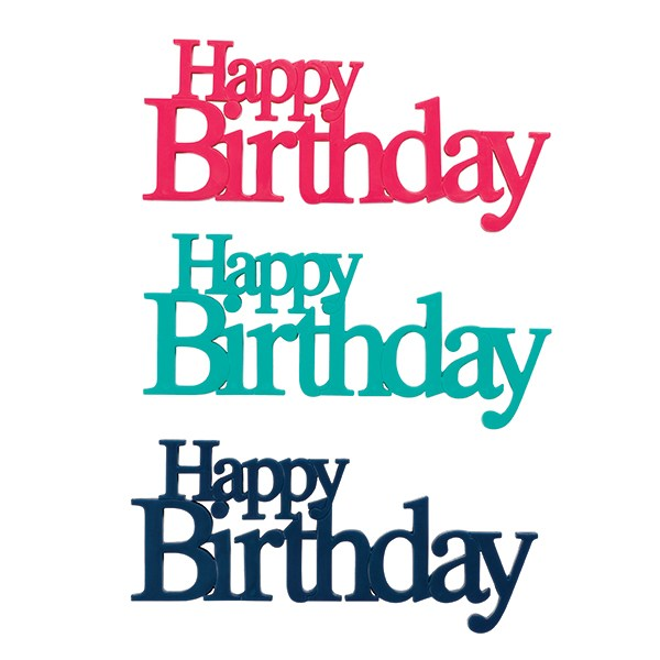 Culpitt Happy Birthday Motto - Assorted Colour (Individual)