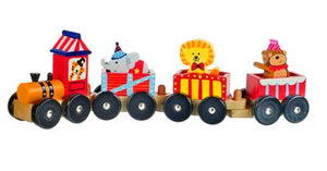 Wooden Train Circus Animals
