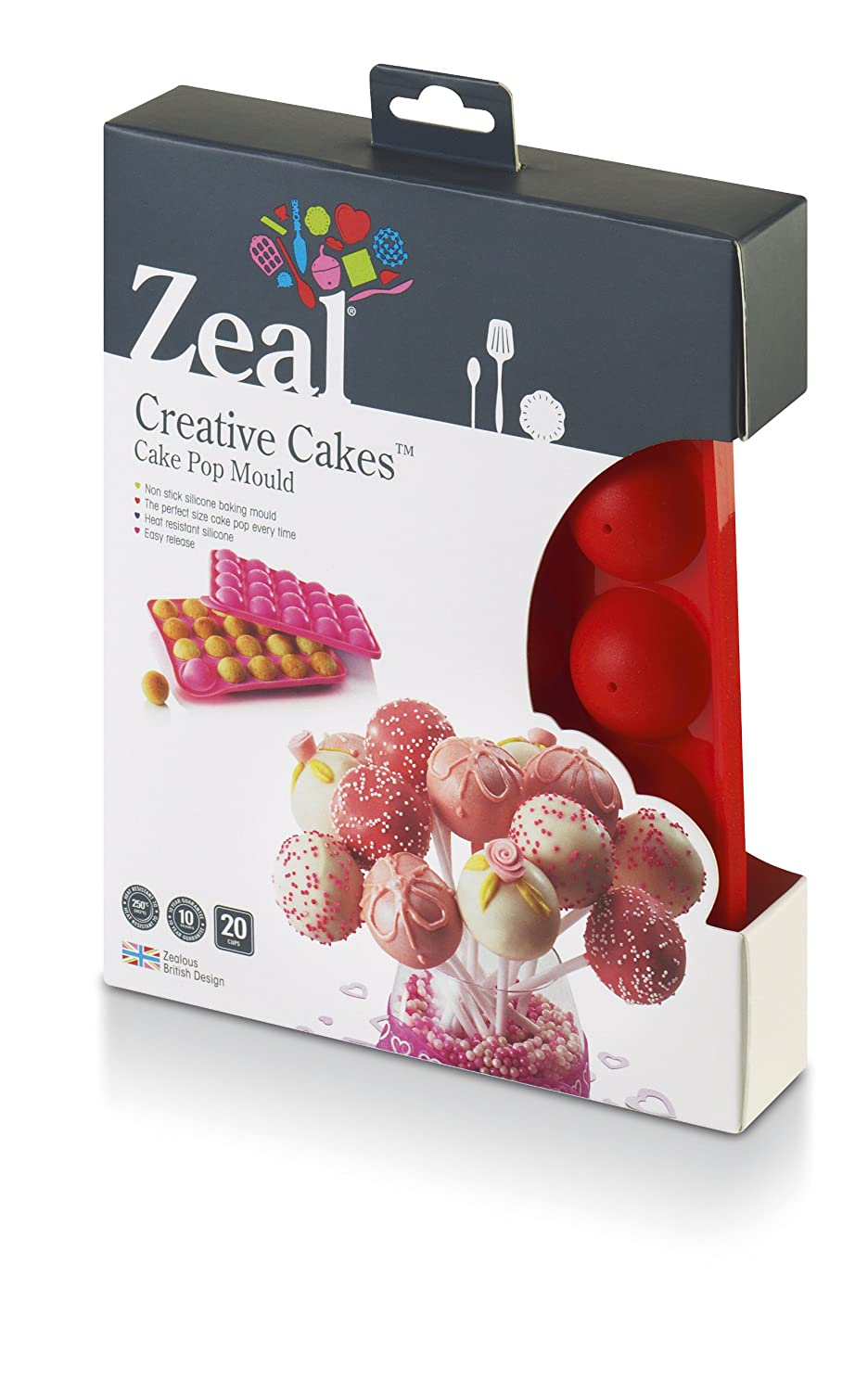 Zeal Silicone Cake Pop Mould - Red