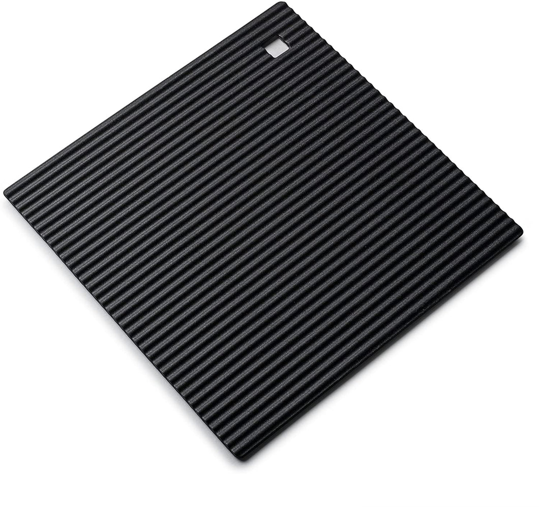 Zeal Medium Silicone Square Trivet - Black