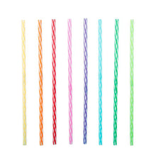 "Load image into Gallery viewer, Kikkerland Reusable Straws - Rainbow (11"")"