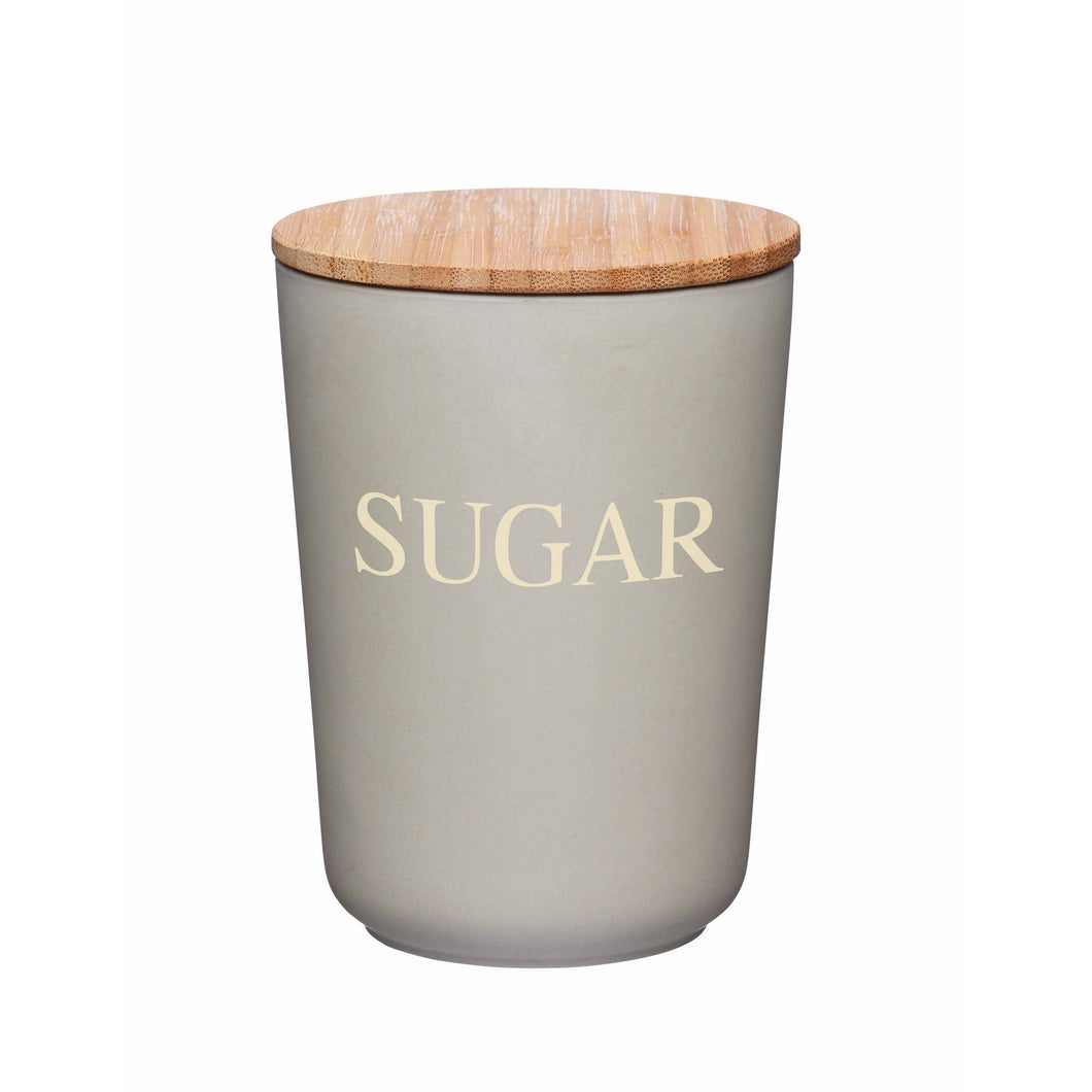 Natural Elements Bamboo Fibre Sugar Canister