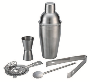 Taproom 5 Piece Cocktail Set - Stainless Steel