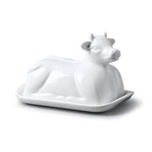 WM Bartleet & Sons Cow Butter Dish