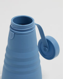 Stojo 20oz Collapsible Bottle - Steel Blue