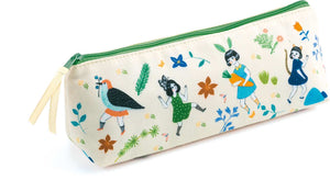 Lovely Paper Pencil Case - Cream Dancing Girl