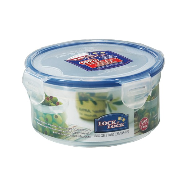 Lock & Lock Round Box - 600ml