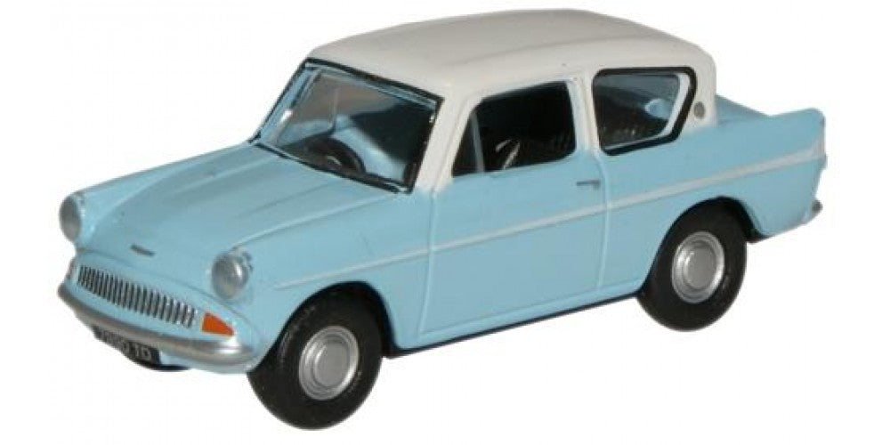 Blue/Ermine White Ford Anglia