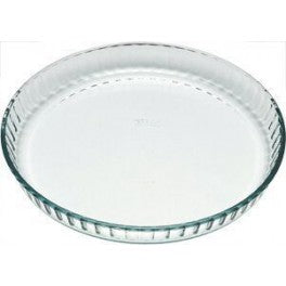 Pyrex Glass Fluted Flan/Quiche Dish - 30cm