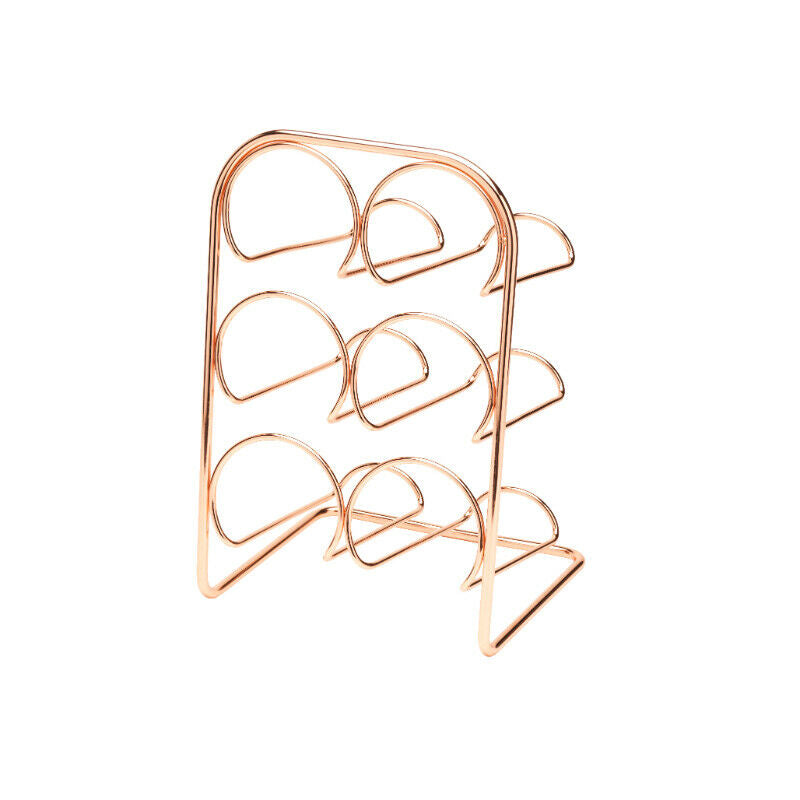 Pisa 6 Bottle Wine Rack - Copper