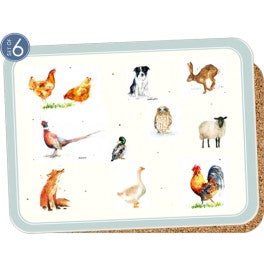 Set of 6 Placemats - Country Friends