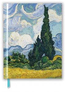 Whet Field with Cypresses Large Notebook