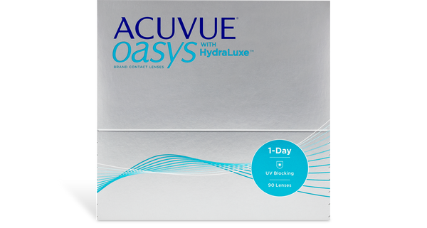 Acuvue Oasys 1 Day with Hydraluxe (90 pk)