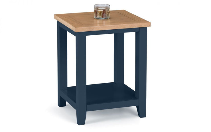 Richmond Lamp Table - Midnight Blue