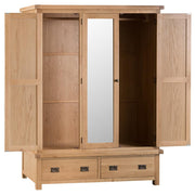 Tucson 3 Door Wardrobe with Mirror