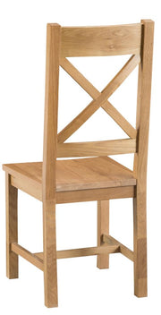Tucson Cross Back Chair Wooden Seat