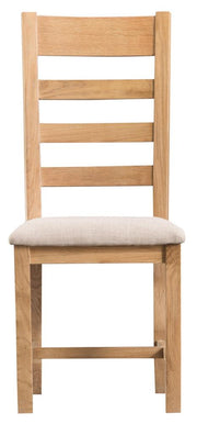 Tucson Ladder Back Chair Fabric Seat