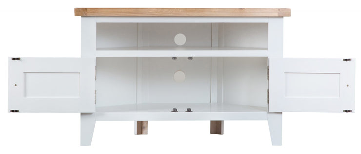 Hampstead White Corner TV Unit