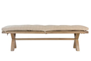 Hatton 2m Bench Cushion Only – Natural Check