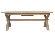 Hatton Wooden 2m-2.5m Cross Leg Dining Table