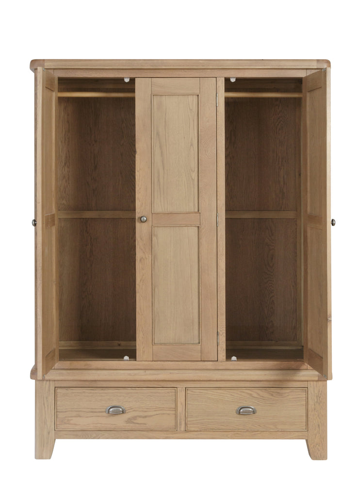 Hatton Wooden 3 Door Wardrobe