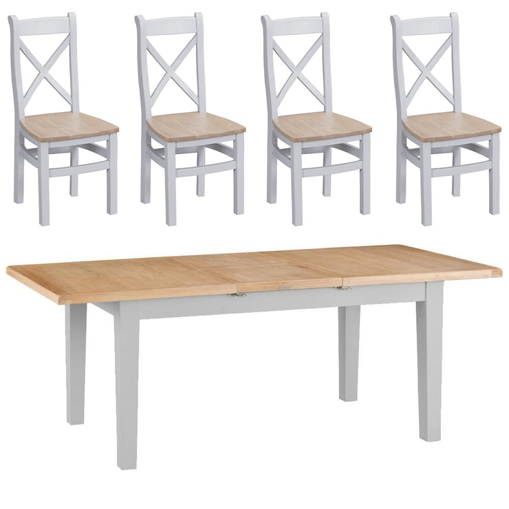 Hampstead Grey Extending Butterfly Table and 4 Chairs