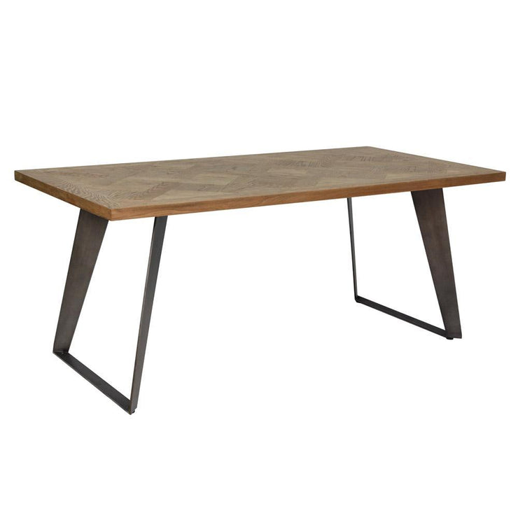Chevron Fixed Top Dining Table
