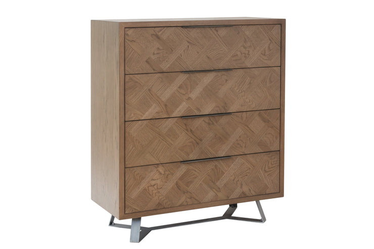 Chevron 4 Drawer Chest Of Drawers