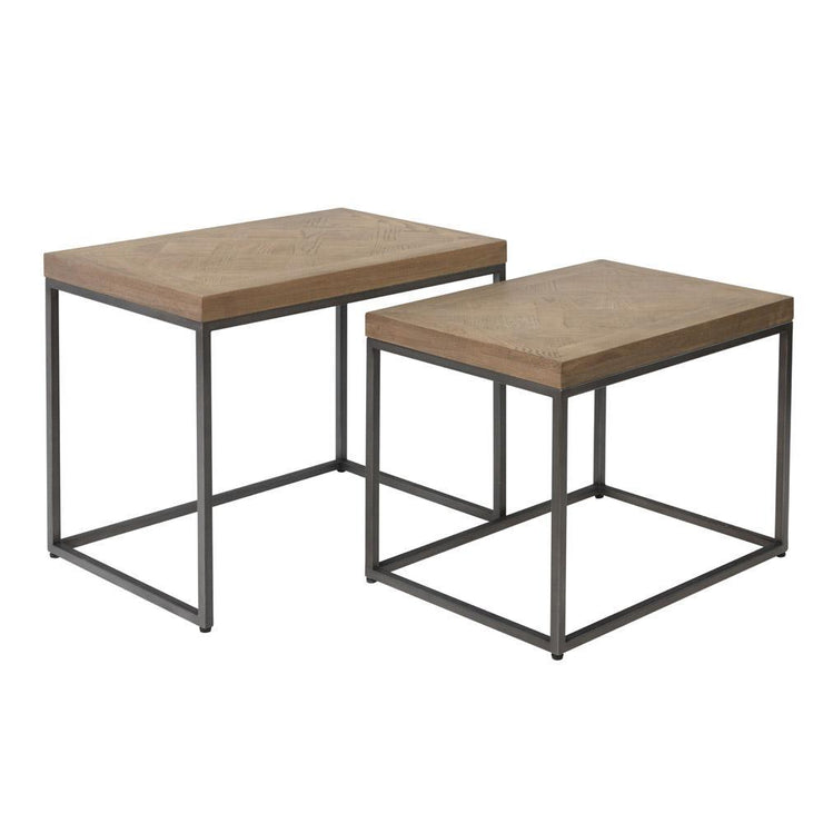 Chevron Nest of 2 Tables