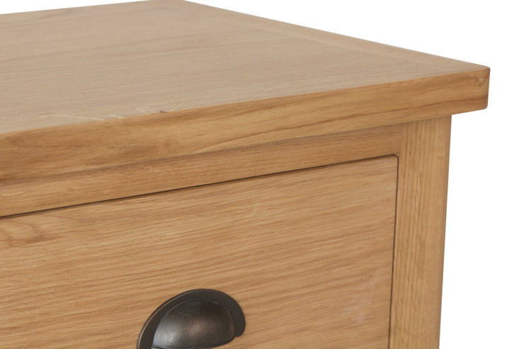 Hampton Oak 5 Drawer Narrow Chest
