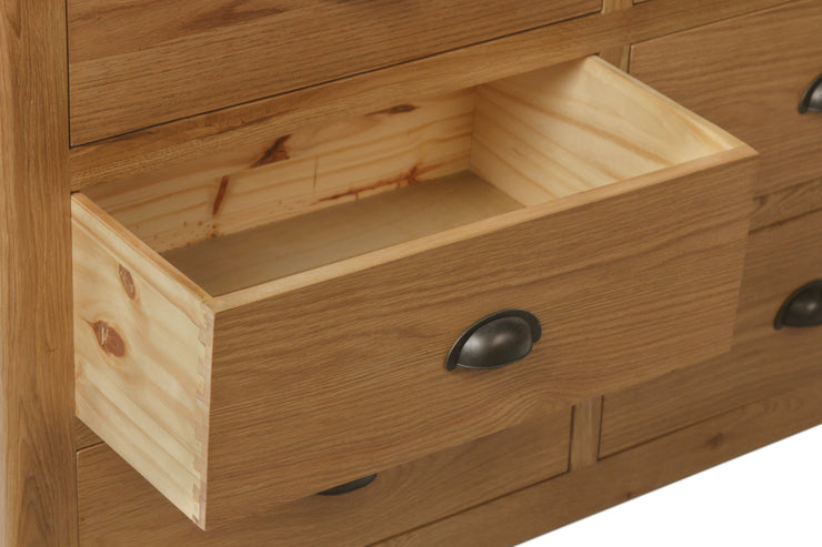 Hampton Oak 6 Drawer Chest