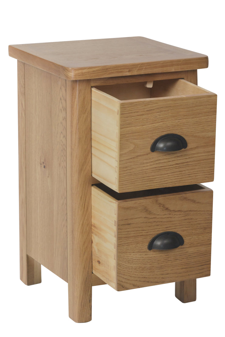 Hampton Oak Small Bedside Cabinet
