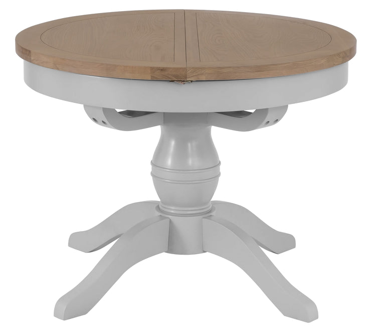 Hampstead Grey Round Butterfly Extending Table
