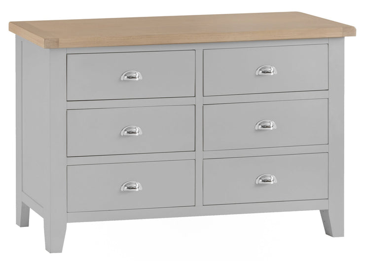 Hampstead Grey 6 Drawer Chest of Drawers
