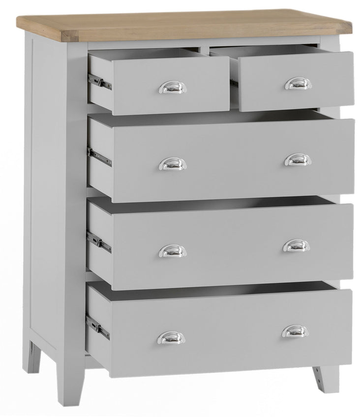 Hampstead Grey 2 over 3 Chest of Drawers - Various Sizes