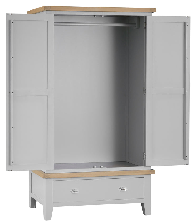 Hampstead Grey Large 2 Door Wardrobe