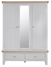 Hampstead Grey Large 3 Door Wardrobe