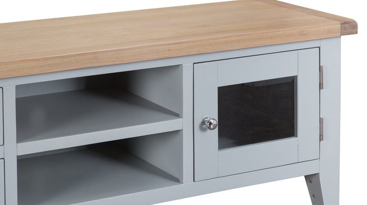Hampstead Grey Large TV Cabinet