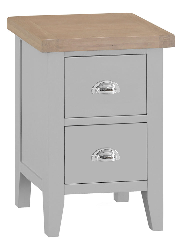 Hampstead Grey Small Bedside Table