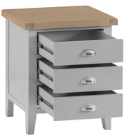 Hampstead Grey Extra Large Bedside Table