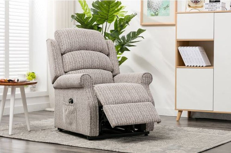 Windsor Fabric Electric Lift and Tilt Recliner Armchair