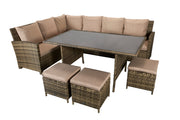 Charlotte Corner Sofa Set (Nature Weave)