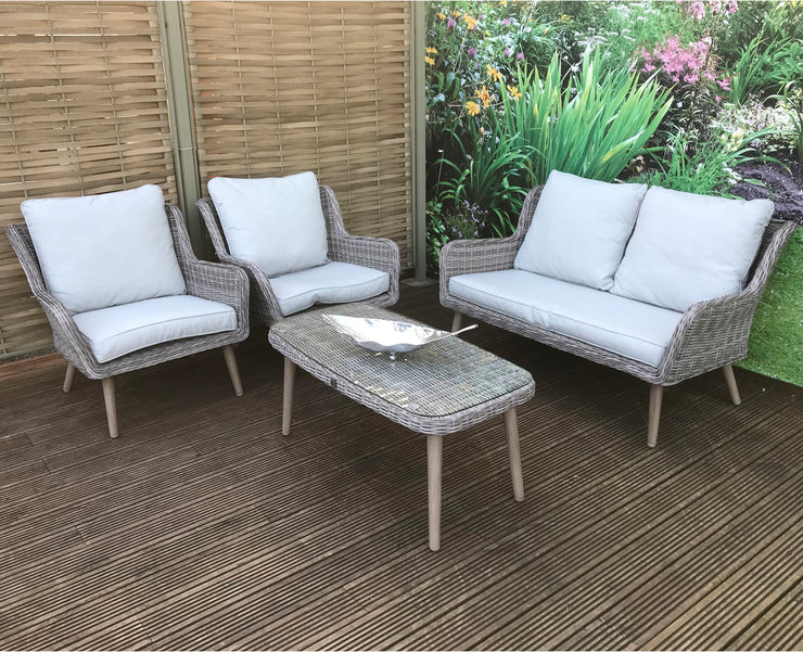 Tami Four Seater Sofa Set in Fine Grey