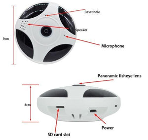 360 IP Camera Full view Two way audio WIFI Panoramic Fisheye Wireless Smart app ICSEE home