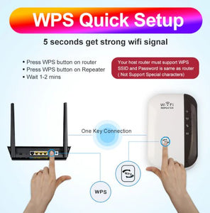 WiFi Repeater Wifi Extender Wireless 300Mbps Amplifier Booster Long Range