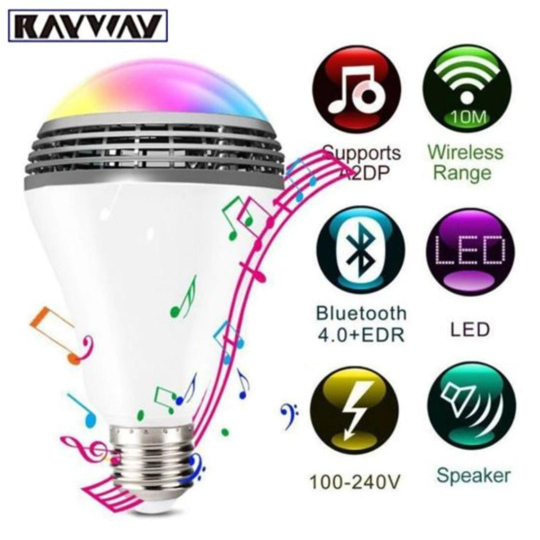 E27 Bulb Bluetooth 4.0 WiFi Smart RGB Audio Speakers Lamp Dimmable LED Wireless Music Bulb Light Color Changing via App Control