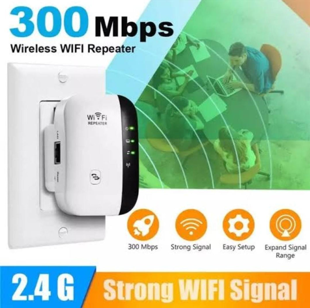 WiFi Repeater Wireless 300Mbps Amplifier Booster Long Range Extender